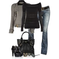 """""""Houndstooth by Gucci"""" by partywithgatsby on Polyvore"""