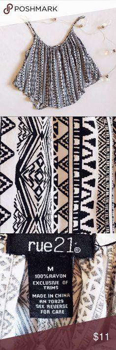 Half top Rue 21, Aztec print half top. Size medium. Rue 21 Tops Crop Tops