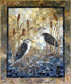Wetlands Double - Joanne Baeth - Quilts and Fiber Arts