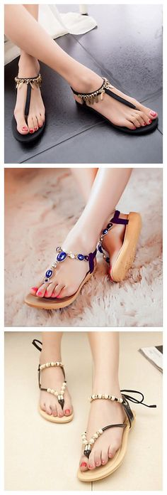 Fashionable flat sandals. Cool your summer from now. All are 85% OFF!