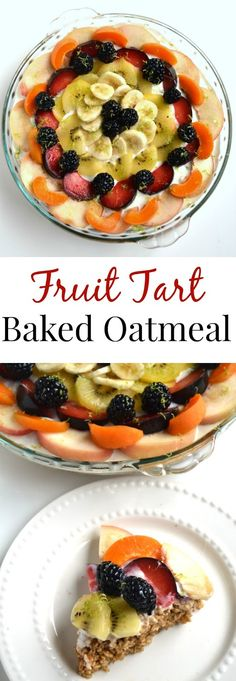 fruit cocktail healthy baked oatmeal with fruit