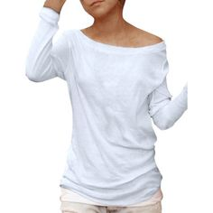 Allegra K Women's Long Sleeves Boat Neck Semi Sheer Pullover Shirt from Walmart.com