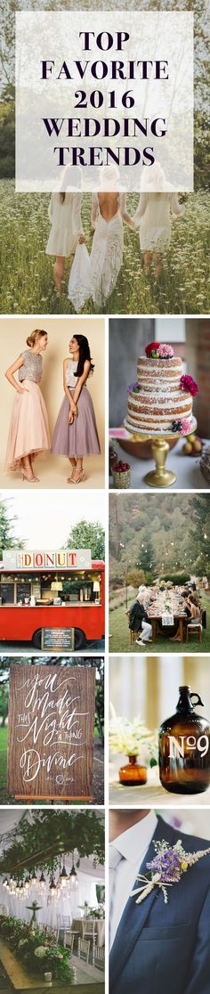 Top Favorite Wedding Trends for 2016! I seriously love all of these!