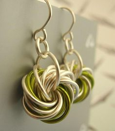 Eternity Earrings - Silver with a Hint of YOUR favorite color, by unkamengifts, $ 25.00