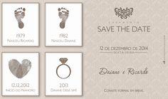 Save the Date para o casamento da Daiane e do Ricardo.