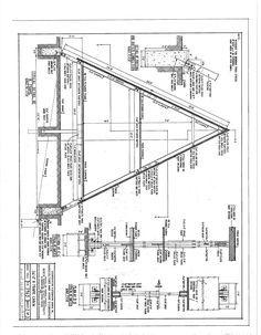 Free A-Frame Cabin Plans Blueprints Construction Documents