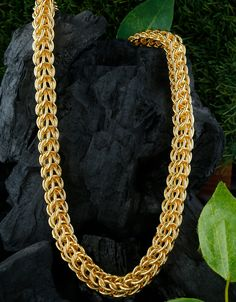 Buy Gold Finish Brass Chain For Men Online Mens Gold Bracelets, Mens Gold Jewelry, Jewelry Art, Fine Jewelry, Brass Chain, Chain Pendants, Mens Chain Necklace, Gold Necklace, Bracelet Designs
