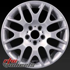 "BMW 323i oem wheels for sale 2006-2011. 18"" Silver rims 59621 - http://www.rtwwheels.com/store/shop/18-bmw-323i-oem-wheels-for-sale-silver-59621/"