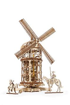 Tower Windmill by UGears - build your own moving model