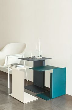 Steel coffee #table DIANA B by ClassiCon | #design Konstantin Grcic @ClassiCon