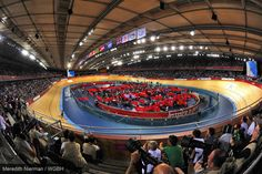 "The cycling arena - called the ""Vendome"" - held the track cycling events on day 1 of the 2012 Paralympic Games"