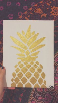 Simple Gold Metallic Pineapple Painting by Courtney Allbee – Available on Etsy!… Simple Gold Metallic Pineapple Painting by Courtney Allbee – Available on Etsy! http://www.wersdecor.website/2017/04/30/simple-gold-metallic-pineapple-painting-by-courtney-allbee-available-on-etsy/