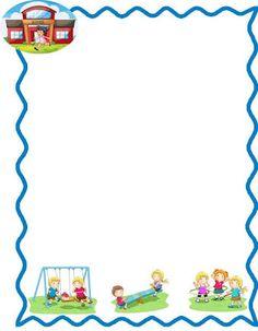 frameworks for school children leaves - Imagui Printable Border, Printable Frames, Page Borders Design, Border Design, Borders For Paper, Borders And Frames, School Decorations, Paper Decorations, School Binder Covers