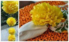 Day 4 - DIY Paper Marigold Flowers for Dussehra & Diwali - Artsy Craftsy Mom
