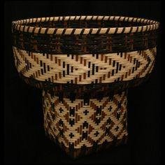 Cherokee White Oak Burden basket (butternut, bloodroot)