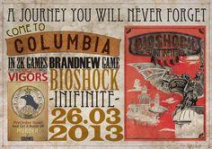 Bioshock Infinite Typographic Propaganda Poster by HAWKB13