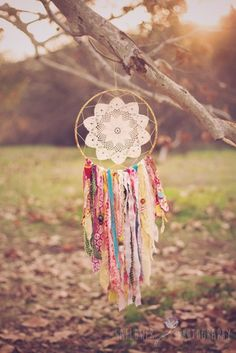 There are a ton of great scrap busting tutorials out there, Check out our  Scrap Busting pinterest board for some great ideas.  But today, we have an  adorable tutorial for how to use some beautiful and small scraps to make a  perfect Dream Catcher. Materials    Fabric scraps   Extra trims   Scissors   Embroidery floss   Embroidery needle   Brass macrame ring (I get mine from Joann, but Im sure they have them at any craft store.)   Doily* (These will stretch when you attach them, so...