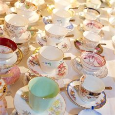 From the great tradition of my mother and Karla Hillestad, I know the true value of unique find tea cups. We use them for far more than just tea parties! They make great serving ware for soups or ice-cream too!