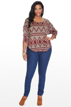 Plus Size Western Skies Tribal Top | Fashion To Figure $26.90