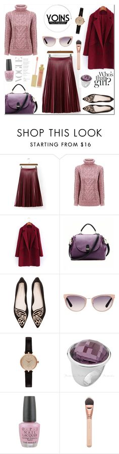 """Yoins"" by anyasdesigns ❤ liked on Polyvore featuring Cuero, Sophia Webster, Tom Ford, Barbour, OPI, AERIN, women's clothing, women's fashion, women and female"