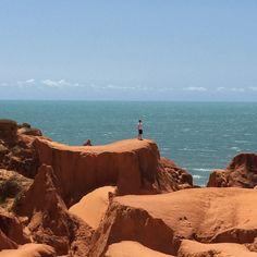 Canoa quebrada / Ceará Brazil Fortaleza / Brésil / falaise rouge / océan