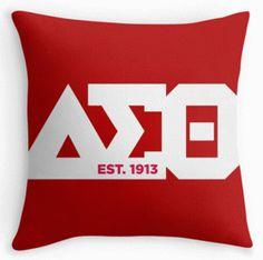 Delta Sigma Theta Throw Pillow 18x18