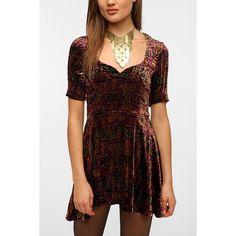 For Love & Lemons Anja Velvet Dress ($158) ❤ liked on Polyvore