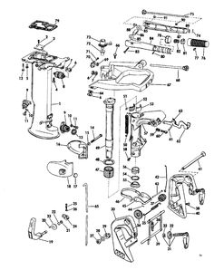 Johnson Carburetor And Starter Group Parts for 1967 6hp CD