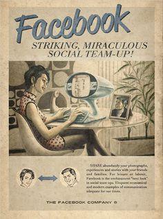 Facebook, en los años 50