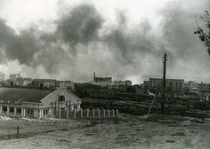 The Battle of STALINGRAD. Oct 1942. Stalingrad burning.