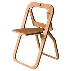 short on space? These wooden chairs fold up into nothing!