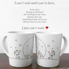 Valentines Gift for Long Distance Girlfriend Miss Us Together Couple Coffee Mugs Relationship Games, Long Distance Relationship Gifts, Distance Gifts, Relationship Problems, Better Relationship, Distance Relationships, Healthy Relationships, Couples Coffee Mugs, Couple Mugs