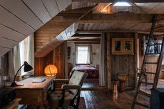 Icelandic designer Halfdan Pedersen's house is made from 100% reclaimed and recycled materials. The beautiful house took him 10 years to complete.