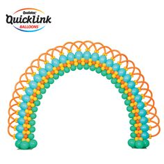 For an elegant and refined balloon decor, this Quick Link Loop-to-Loop Arch is a great option. Think wedding entrance! Balloon Gate, Balloon Tower, Ballon Arch, Balloon Stands, Balloon Display, Balloon Columns, Bubble Balloons, Latex Balloons, Rainbow Bouquet