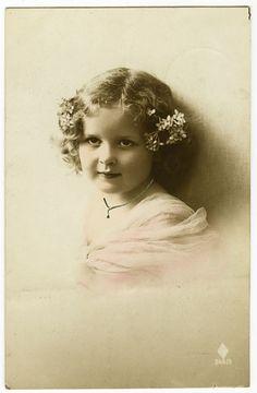C 1913 Children Adorable Little Girl Antique Vintage Photo Postcard | eBay
