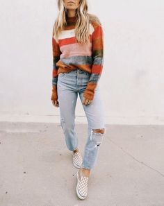 New fashion inspo ideas ripped jeans Ideas Fall Winter Outfits, Autumn Winter Fashion, Casual Winter, Fall Fashion, Winter Clothes, Dress Winter, Fashion Mode, Womens Fashion, Jeans Fashion