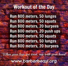 the day - Running workout. Great workout to do at the track. A new year, a new you! totals miles, 100 lunges, 100 squats, 40 burpees and 20 push ups Fitness Workouts, Treadmill Workouts, Running Workouts, Fun Workouts, Yoga Fitness, At Home Workouts, Health Fitness, Fitness Memes, Funny Fitness