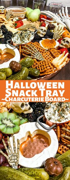 This Halloween snack tray will be the star of your Halloween party! With an assortment of cheeses, fruits, and snacks, everyone will love this fun Charcuterie Board!