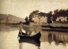 L' Arno alla Casaccia (Giuseppe Abbati)