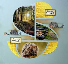 GORGEOUS layout that highlights beautiful photos. Diy Scrapbook, Scrapbooking Layouts, Scrapbook Pages, Nature Journal, Decoration, Illusions, Embellishments, Stencils, Mosaic