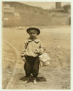"""Date: April 1913 Location: Columbus, Barnearbeid._Georgia Phoenix Mill was a """"dinner-toters,"""" delivering up to 10 meals a day to workers. Image by Library of Congress / National Child Labor Committee Collection Funny Animal Photos, Funny Animals, Cute Animals, Old Pictures, Old Photos, Vintage Photos, Lewis Wickes Hine, Wildlife Art, American History"""