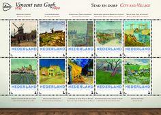 Schilderijen Vincent van Gogh - Stad en dorp  http://collectclub.postnl.nl/speciale-map-van-gogh-nederland.html