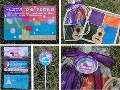 Festa tema Palavra Cantada, convite, toppers, etiquetas e lembrança!