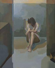 "popgoesred: Katia Setzer Echoes: Variation III — 14"" x 18"" — Oil on Canvas — 2012"