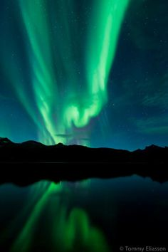 Aurora over Hamarøy, Norway on october 8, 2012. by Tommy Eliassen