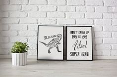 Personalized Art print with boy name and super by MyHomeAndYours