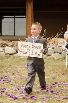 Haha this is too cute for the ring bearer!