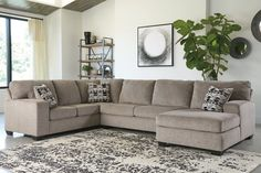 Ballinasloe 3-Piece Sectional with Chaise | Ashley Furniture HomeStore Living Room Sectional, Sectional Sofa With Chaise, Modern Sectional, Design Furniture, Furniture Layout, At Home Store, Corner Sofa, Contemporary Design, Love Seat