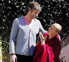 Brett Kirk and Buddhist monk