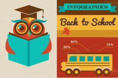Check out Back to school - infographics by Marish on Creative Market